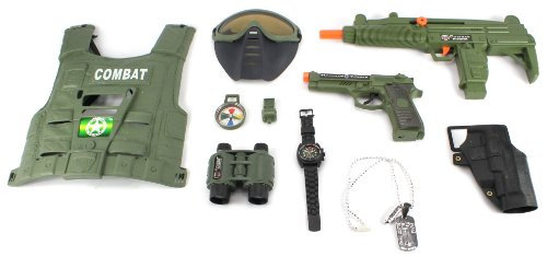 Combat Force Army Friction Toy Gun