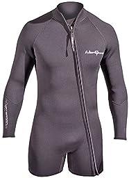 NeoSport Men\'s Premium Neoprene 3mm Waterman Wetsuit Jacket, Large