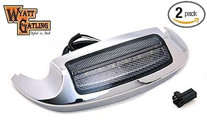 Smoke Mud Guard Front/&Rear Fender Tip Light Lens Cover For Harley FLHT FLT FLHS