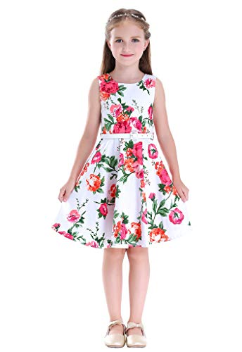 Happy Rose Girl's Dress Vintage Party Floral 16
