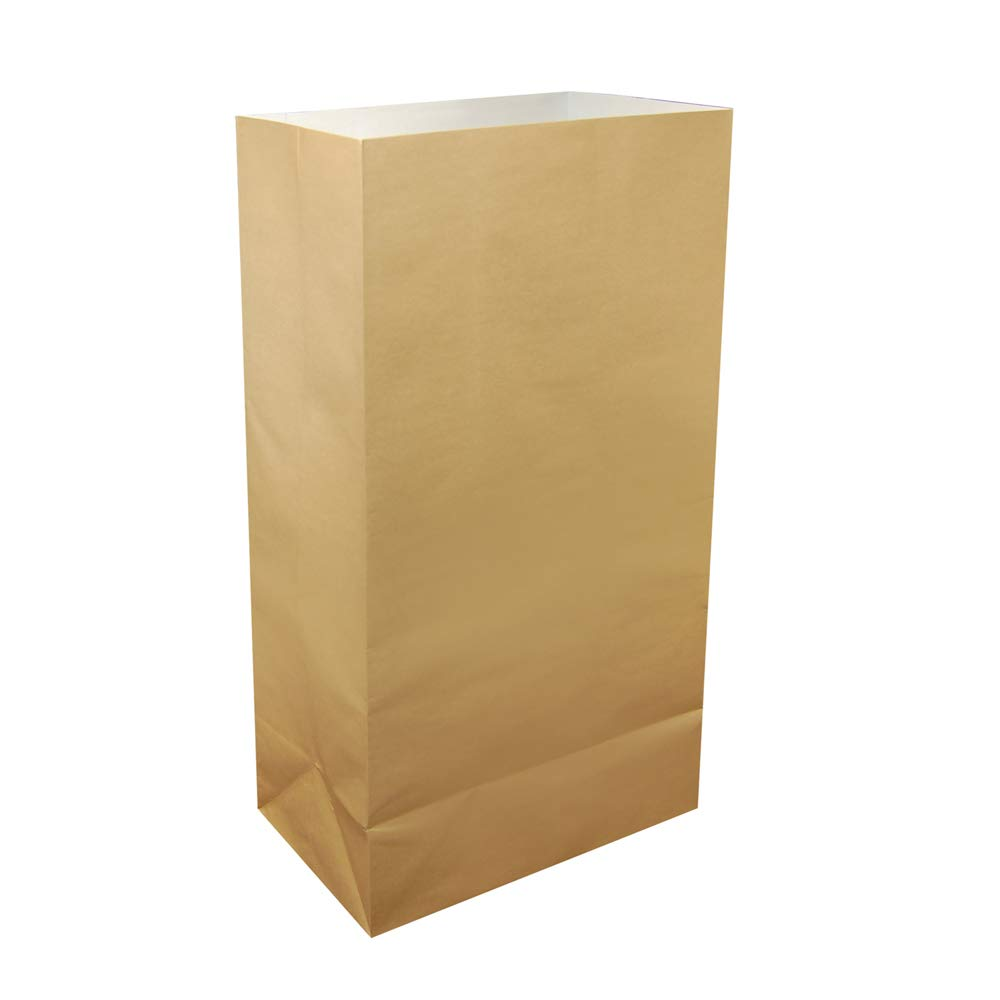 Mod Lighting and Decor Set of 24 Brown Tan Luminaria Paper Bag. 11'' by Mod Lighting and Decor