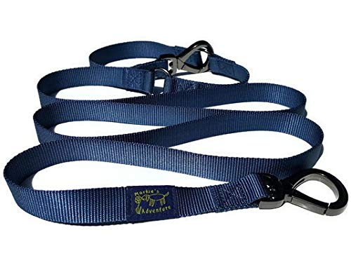 Markie's Adventure Hands Free Adjustable Dog Leash with Easy-Use Carabiner Swivel Hooks by Markie's Adventure