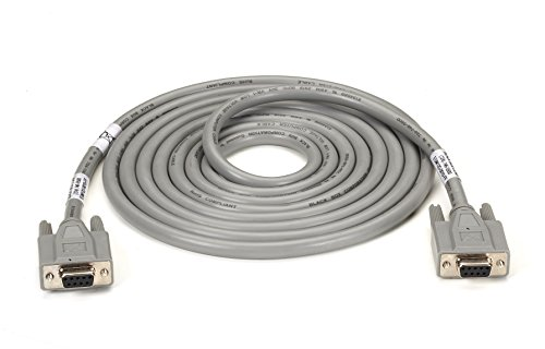 Black Box 10FT F/F DB9 9-Conductor Straight-Wire Stranded Cable EMI/RFI Hood