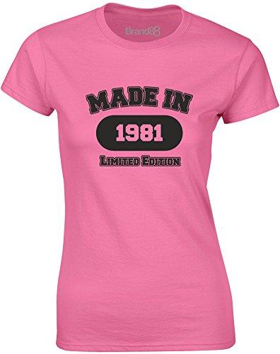 Imprimé noir 1981 In Brand88 shirt Mesdames T Made Azalée AU4RxS