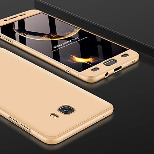 TiHen Funda para Samsung Galaxy C9 Pro Funda 360 Grados Integral para Ambas Caras + Cristal Templado 2 Piezas, Luxury 3 in 1 PC Hard Skin Carcasa Case Cover para Samsung Galaxy