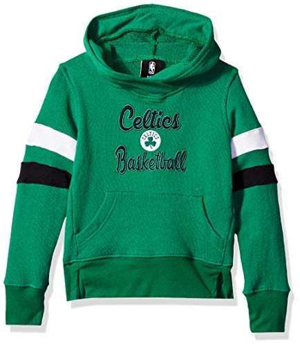 (Outerstuff NBA NBA Kids & Youth Girls Boston Celtics Claim to Fame Overlay Hoodie, Kelly Green, Youth)