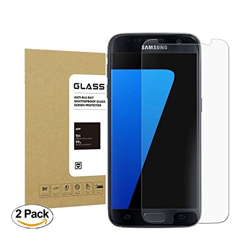 Galaxy S7 Tempered Glass Screen Protector, WolfGen [2Pack] 9H Hardness Bubble-Free [Touch Sensitive] HD Clear Film Screen Protector for Samsung Galaxy S7