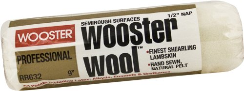 Wooster Brush RR632-9 Wooster Wool Roller Cover 1/2-Inch Nap, 9-Inch ()