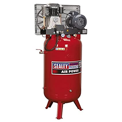Sealey SACV42755B 270 litros 5,5 hp 3 ph 2-etapa compresor Vertical con