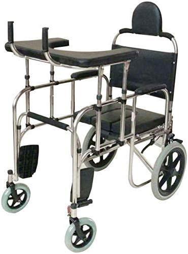 FMOGE Andador con Andador con Asiento, Inodoro Junto A La Cama, Entrenamiento para Caminar De Rehabilitación, Ayuda para La Movilidad para Adultos, Personas Mayores, Ancianos