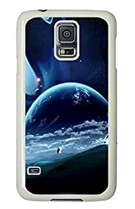funny Samsung Galaxy S5 case Beautiful Outer Space PC White Custom Samsung Galaxy S5 Case Cover