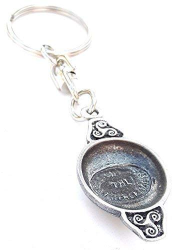 Falcon on glove Falconry Handcrafted from Solid English Pewter In the UK KeyRing