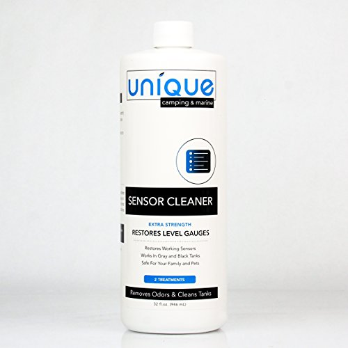 Holding Tank Level Gauge - Unique RV Sensor Cleaner – 32 oz. | For RV and Boat Black Water Holding Tanks | Cleans and Restores Level Gauges | Works On Old and New Problems
