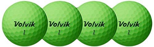 Volvik Vivid Xt Golf Balls  Matte Green  One Dozen