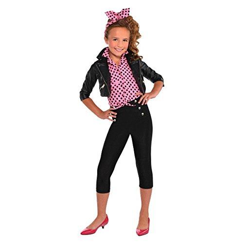 Amscan Greaser Girl 50s Costume Black/Pink]()