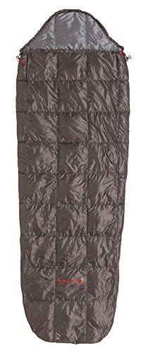 Big Agnes McKinnis Lightweight Down Summer Sleeping Bag, Shale/Gray, Regular Length, Right Zipper