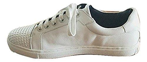 Rebecca Minkoff Bleecker Vitt Läder Förskönat Stud Sneaker 9,5