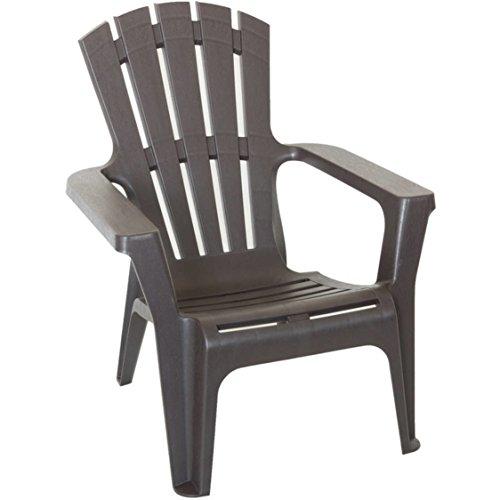 Outdoor Decor Patio Furniture Adirondack Chair, Brown