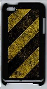 iPod 4 Case, iPod 4 Cases - Caution Stripes Custom Design iPod 4 Case Cover - Polycarbonate¨CBlack