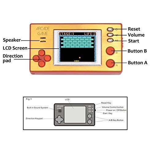 Handheld Portable Arcade Video Game Console iWawa Retro Pocket 150+ Games for Kids to Adult by IWAWA (Image #3)
