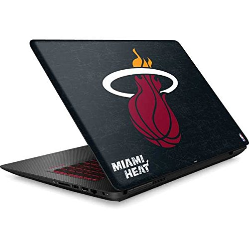 Skinit NBA Miami Heat Omen 15in Skin - Miami Heat Black Partial Logo Design - Ultra Thin, Lightweight Vinyl Decal Protection by Skinit