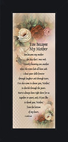 You Became My Mother, Gifts for Mother in Law, In Law Frames
