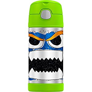 Thermos Funtainer 12 Ounce Bottle, Wacky Faces