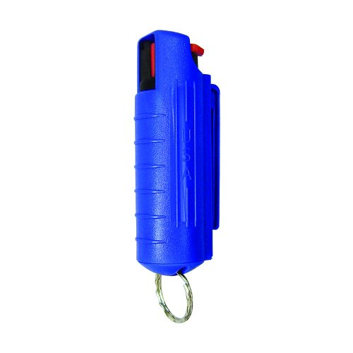 - PS Products Eliminator 1/2 oz. Pepper Spray with Hardcase & Keyring, Blue