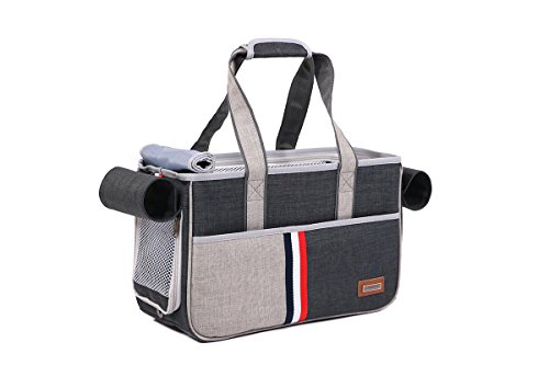 JPTACTICAL Pet Carrier Bag for Dogs or Cats | Pets Carriers with Locking Safety Zippers |Airline Approved Travel Pet…
