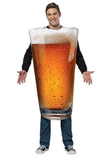 Rasta Imposta Men's Get Real Beer Pint, Gold,