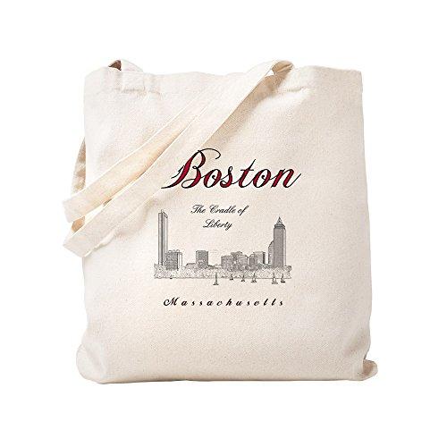 mn_Plusv_Front_Skyline_Blackred - Natural Canvas Tote Bag, Cloth Shopping Bag ()