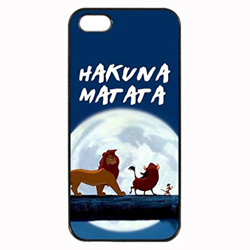 Iphone5/SE [Help Big] TPU Rubber Black Case Neverfade Scratchproof Case Black iPhone 5/5s/SE Case - The Lion King Hakuna Matata