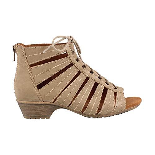 Rockport Cobb Hill Women's Gabby-CH Heeled Sandal, Khaki, 6 M US (Designs Gabby)
