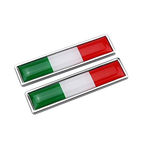 Gill Luggage - Putars 56x13mm 1 Pair Metal Facing Labeling Decal - National Flag Emblem DIY Metal Car Sticker Car Styling Car Stickers - Self Adhesive Peel and Stick Easy to Use Waterproof