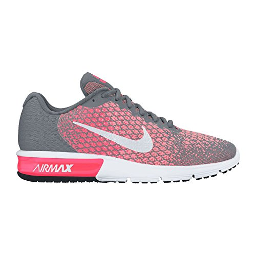 Nike WoMen WMNS Air Max Sequent 2 Running Shoes, Multicolored Multicolore - Gris/Blanc (Cool Grey/White/Hot Punch/Lava Glow 003)