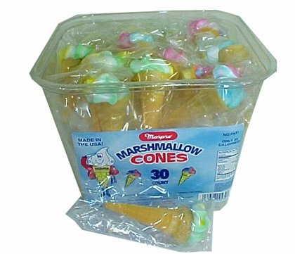 Marpro Yum Yum Marshmallow Candy Cones 30ct (2 Pack)