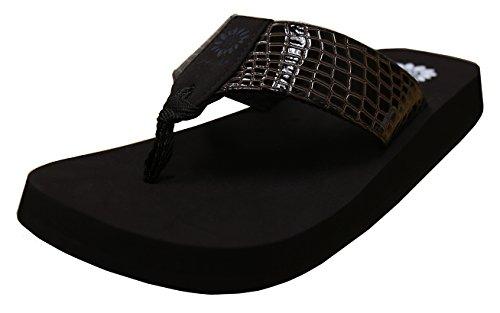 yellow box flip flops brown - 8