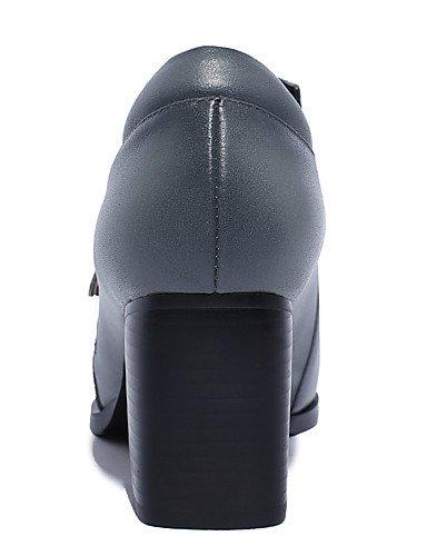 Cn Gray tac¨®n Redonda Uk6 Innovador Confort Eu39 tacones Tal¨®n Eu36 Zq Cerrada Estilos Uk4 us8 us6 De Gladiador Descubierto Mujer Punta Gray Cn39 Robusto Cn36 Zapatos qAnpwZR