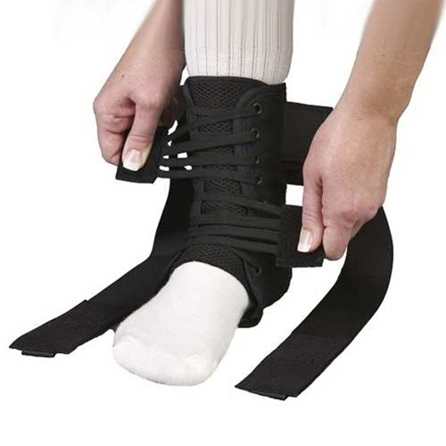 MedSpec ASO EVO Speed Lacer Ankle Brace Stabilizer Black Medium