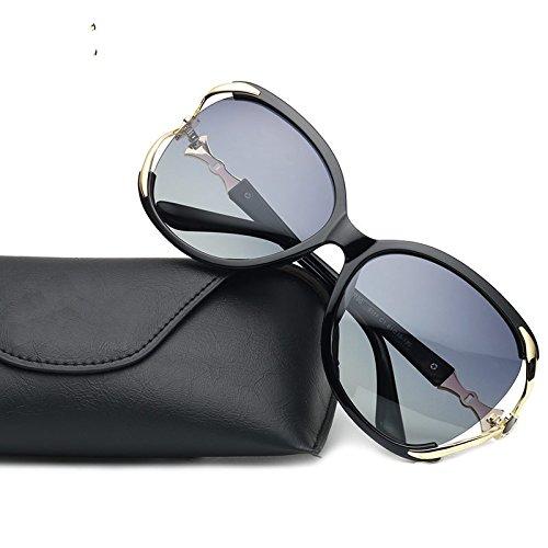 Vintage Gafas Para Polarizadas BLACK Rim Posterior Gafas TIANLIANG04 Sin Para Gafas Lord Gradual De Lentes Sol De Semi Mujer De Gradiente Sobredimensionado Sol Púrpura HSwq4dfY