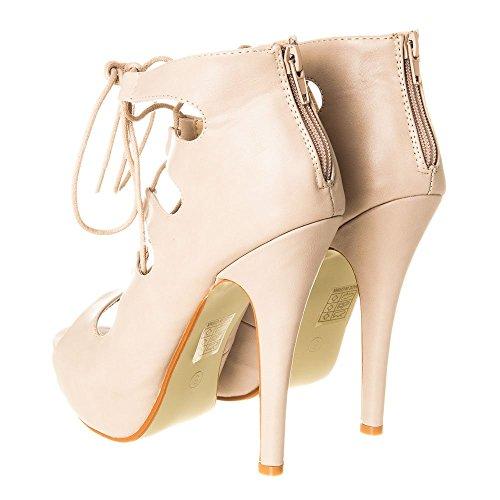 Diva Matt Con Mujer Tacón Zapatos Miss Nude Yw1dY