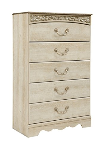 Ashley Catalina Five Drawer Chest In Antique White