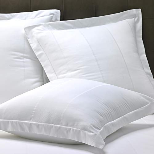 Marriott Bird S Eye Stripe Euro Sham White Pillow Sham For Euro Pillow 30 X 30