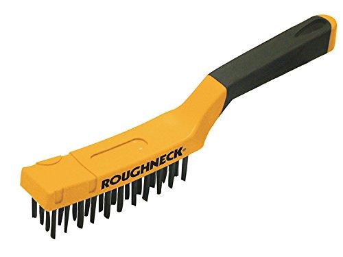 Roughneck Carbon Steel Wire Brush Soft Grip 300Mm 12 Inch