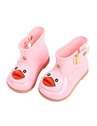 Cute Baby Girl Rain Boots Soft Anti-slip Toddler Rain Shoes Summer with Cartoon Duck