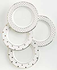 kate spade new york Larabee Road Platinum Tidbit Plate Set - 4 ct  sc 1 st  Amazon.com & Amazon.com: Bone China - Plates / Dining \u0026 Entertaining: Home \u0026 Kitchen
