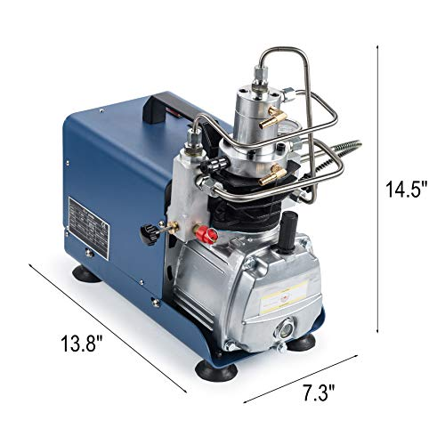 Orion Motor Tech High-Pressure Electric Air Compressor Pump with Pressure Gauge, 4500 PSI/30 MPa /300 BAR Air Pump for Air Rifle PCP Airgun Paintball Scuba Fill Station for Fire Fighting and Diving