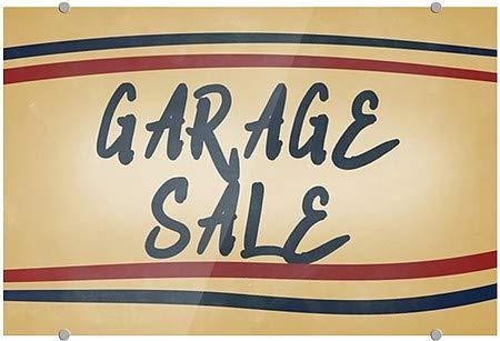 CGSignLab Garage Sale Nostalgia Stripes Premium Acrylic Sign 36x24