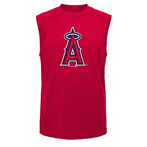 MLB Los Angeles Angels of Anaheim Youth Boys Position Sleeveless Tee, Athletic Red, XX-Large 18 (Red Tank Mlb Top)