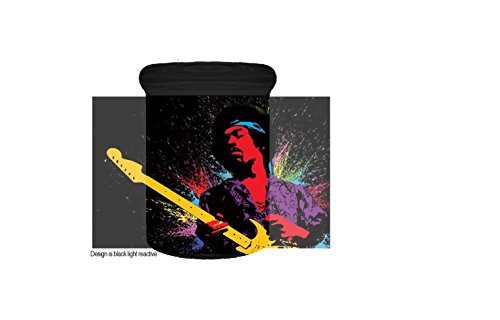 Jimi Hendrix Black Light Reactive Glass Storage Pop Top Airtight Container Medical Jar Herb Stash Container